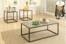 3-Piece Occasional Tables Cocktail Table: 48 x 24 x 18H End Table: 24 x 22 x 22H