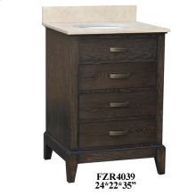 "Kensington 3 Drawer 24"" Vanity Sink"
