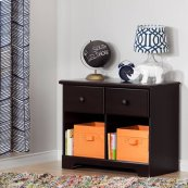 2-Drawer Double Nightstand - Chocolate