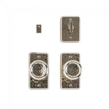 """Hammered Privacy Set - 2 1/2"""" x 4 1/2"""" Silicon Bronze Brushed"""