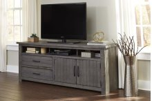 74 Inch Console - Distressed Dark Gray Finish