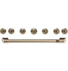 "Café 36"" Brushed Bronze Handle & Knob Set for Pro Range and Rangetop"