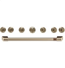 "Café 36"" Brushed Bronze Handle & Knob Set for Pro Range and Rangetop"