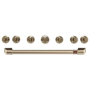 "Cafe Appliances36"" Brushed Bronze Handle & Knob Set for Pro Range and Rangetop"