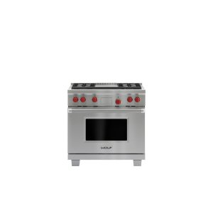 "Wolf36"" Dual Fuel Range - 4 Burners and Infrared Griddle"