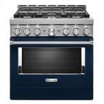 KitchenaidKitchenAid(R) 36'' Smart Commercial-Style Gas Range with 6 Burners - Ink Blue
