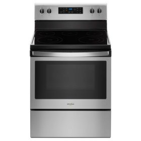 Whirlpool® 5.3 cu. ft. Freestanding Electric Range with 5 Elements - Fingerprint Resistant Stainless Steel