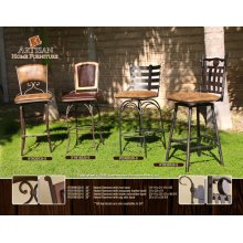 30 Swivel Barstool with Upholstered Seat