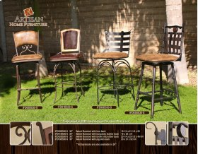 "24 or 30"" Swivel Barstool Armless w/Brown Microfiber Seat & back"