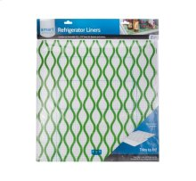 Trim-to-Fit Refrigerator Liner, Green Waves 2 Pack