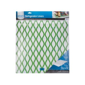 FrigidaireTrim-to-Fit Refrigerator Liner, Green Waves 2 Pack