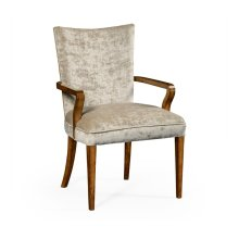 Biedermeier Style Walnut Dining Armchair (Calico)