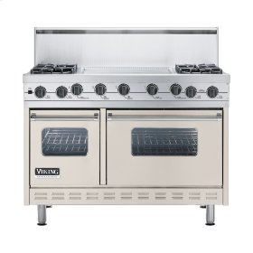 "Oyster Gray 48"" Sealed Burner Self-Cleaning Range - VGSC (48"" wide, four burners & 24"" wide griddle/simmer plate)"