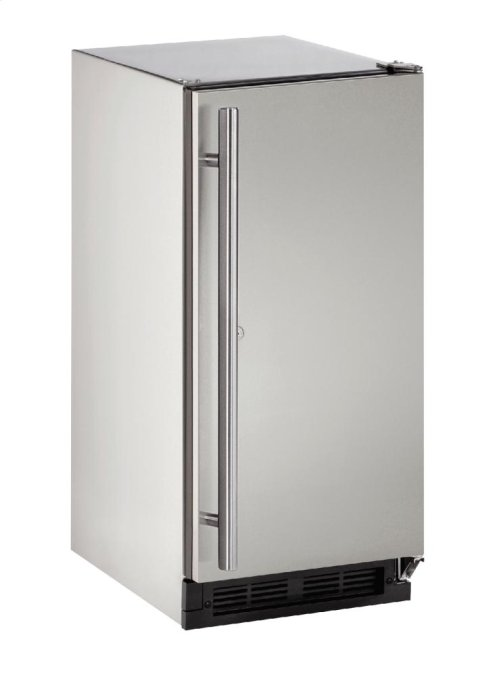 """Outdoor Series 15"""" Outdoor Refrigerator With Stainless Solid (lock) Finish and Field Reversible Door Swing"""