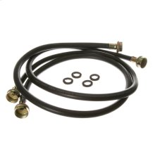 Washing Machine 2 Pack RUBBER INLET HOSE, 4'
