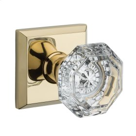 Polished Brass Crystal Reserve Knob