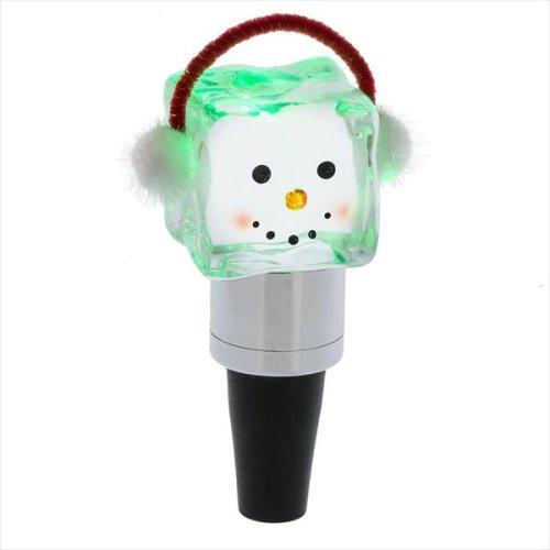 Lighted LED Shimmer Ice Fella Head Bottle Stopper. (12 pc. ppk.)