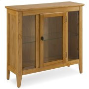 Natural Oak Entryway Curio Cabinet with Interior Light #10000-DS Product Image