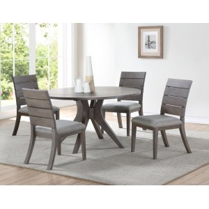 "Steve Silver Co.Elora Round Dining Table, Grey 54""x54""x30"""