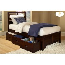 Twin Bed with Three Storage Boxes