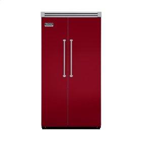 "Apple Red 42"" Side-by-Side Refrigerator/Freezer - VISB (Integrated Installation)"