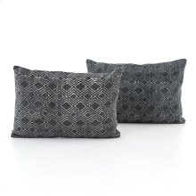 Charcoal Diamond Print Lumbar, Set of 2