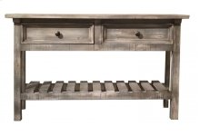 Sofa Table w/ 2 Drawers - Marfil finish
