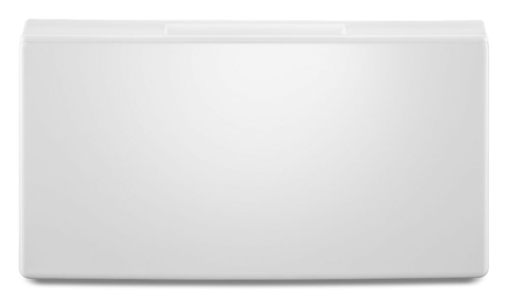 """15.5"""" Pedestal for Front Load Washer and Dryer with Storage  WHITE"""