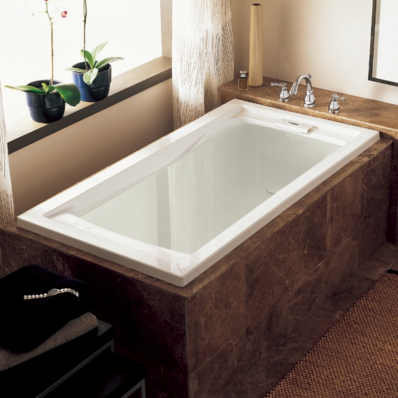 Evolution 72x36 Inch Deep Soak Bathtub   Linen