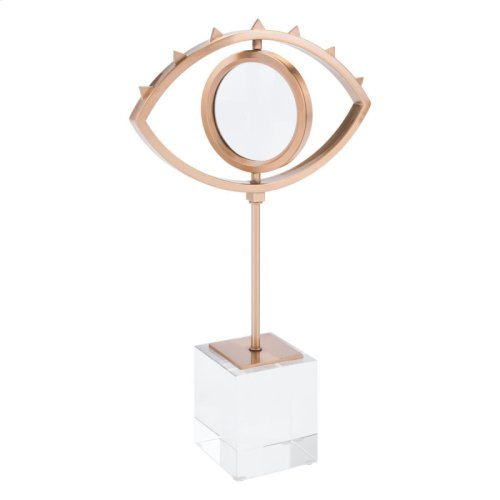 Eye With Stand Antique Brass