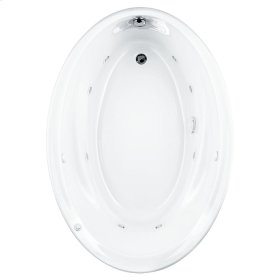 Savona 60x42 inch Oval EverClean Whirlpool Tub - White