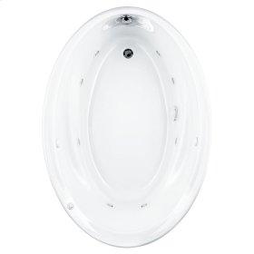 Savona 60x42 inch Oval EverClean Whirlpool Tub - White