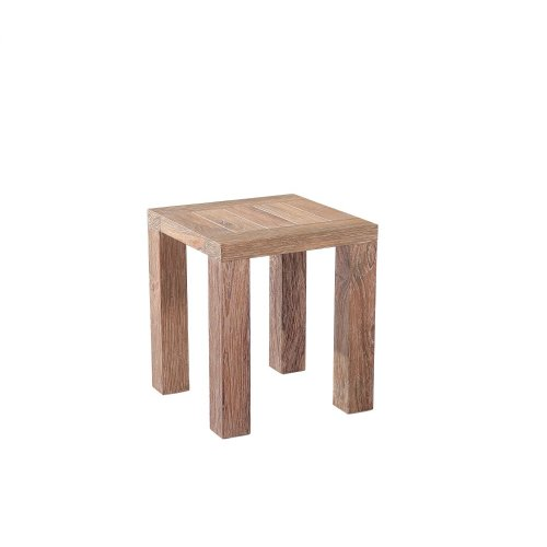 Emerald Home Reims Square Side Table Weathered Teak Ot1207-1