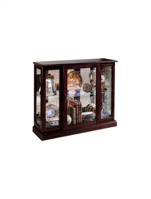 Ridgewood Cherry Mirrored Curio Console