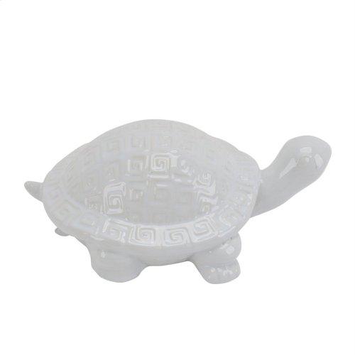 Ceramic Turtle Figurine, White