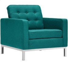 Loft Upholstered Fabric Armchair in Teal