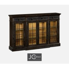 Four Door China Display Cabinet in Dark Ale
