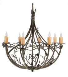 Pine Iron 8 Arm Chandelier