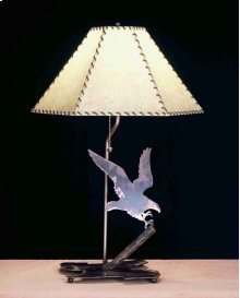"26.5""H Strike of the Eagle Faux Leather Table Lamp"
