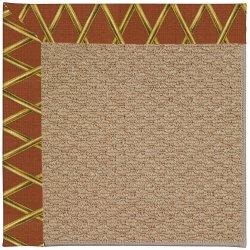Creative Concepts-Raffia Bamboo Cinnamon Machine Tufted Rugs
