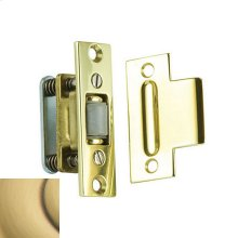 Satin Brass and Brown Roller Latch