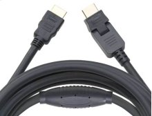 30' HDMI Cable; Includes 1 pivoting end and 1 straight end
