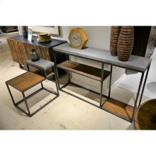 Console Table - Rustic Saal/concrete Finish
