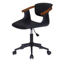 Darwin KD PU Bamboo Office Chair, Black/Walnut *NEW*