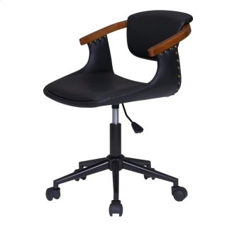 Darwin KD PU Bamboo Office Chair, Black/Walnut *NEW*
