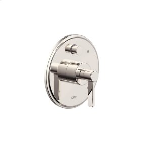 Tub and Shower Trim Plate with Handle Wallace (series 15) Polished Nickel