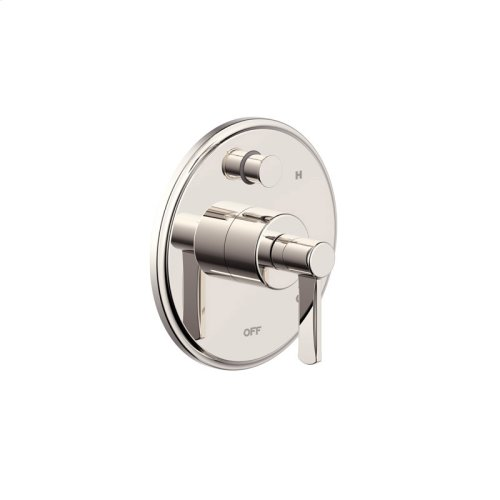 Tub and Shower Trim Plate With Handle Darby Series 15 Polished Nickel