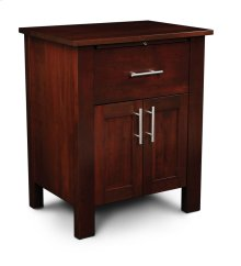 East Village Deluxe Nightstand with Doors
