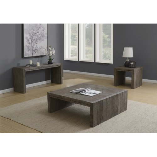 Emerald Home Cubix Sofa Table Pewter T273-02