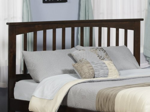 Mission Headboard Queen Walnut